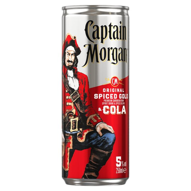 a18d2b32be895 Captain Morgan s Spiced Rum   Cola Premix 250ml from Ocado