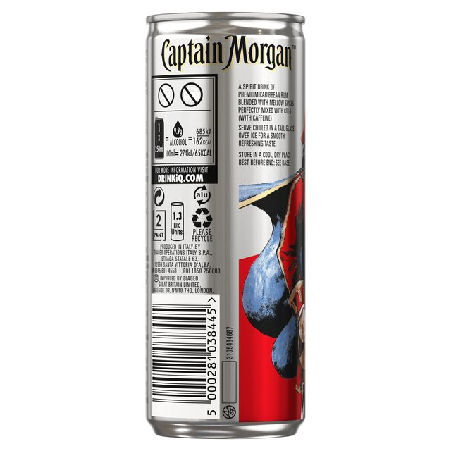 Captain morgan white rum carbs for White rum with coke