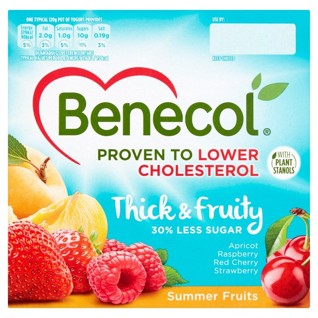 Benecol Cholesterol Lowering Yogurt Summer Fruits