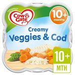 Cow & Gate Creamy Vegetables & Cod Little Steamed Meal