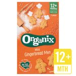Organix Mini Gingerbread Men Organic Toddler Snack Biscuits