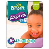 Pampers Active Fit Size 5+ (13-27kg) Economy Pack