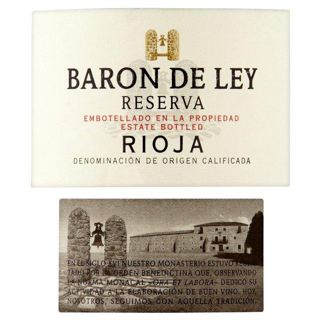 baron de ley reserva rioja 75cl from ocado. Black Bedroom Furniture Sets. Home Design Ideas