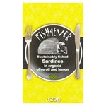 Fish 4 Ever Whole Sardines in Organic Lemon & Olive Oil