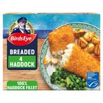 Birds Eye 4 Large Haddock Fillets in Breadcrumb Frozen