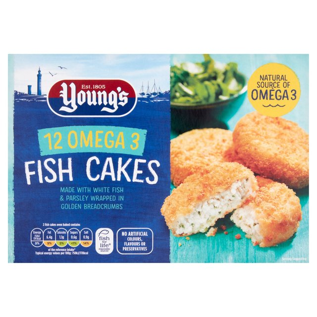 Young 39 s 12 fish cakes frozen 600g from ocado for Best frozen fish to buy at grocery store