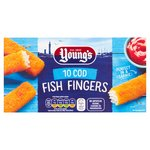Young's 10 Cod Fish Fingers Frozen