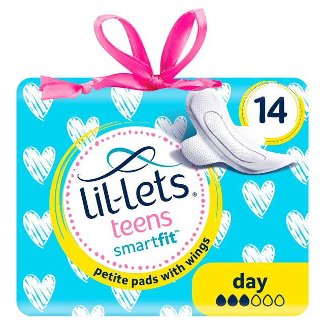 Pack of 2 14 Lil-Lets Teens Ultra Towels with Wings Day