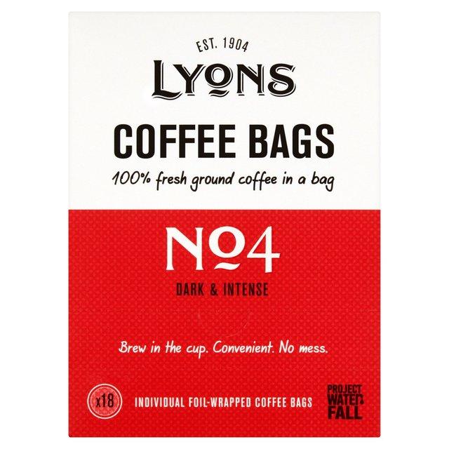 Lyons Gourmet Italian Coffee Bags   Ocado