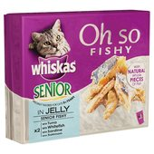 Whiskas Oh So 7+ Pouch Fish Cuts in Jelly