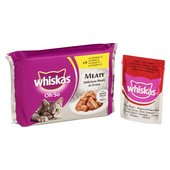 Whiskas Oh So Pouches Meaty Meals in Gravy
