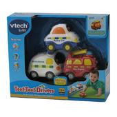 Vtech Toot Toot Drivers Set Ambulance Fire Engine Police Car, 12mths+