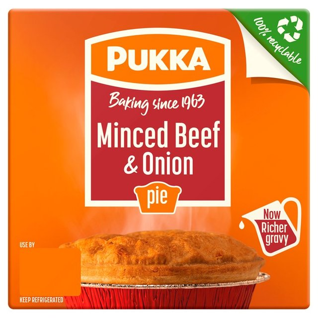 Pukka Pies Minced Beef u0026 Onion  sc 1 st  Ocado & Pukka Pies Minced Beef u0026 Onion 231g from Ocado