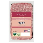 Waitrose 1 British Veal Mince (Typically 15% Fat)