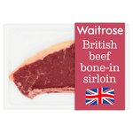 Waitrose British Beef Bone In Sirloin Steak