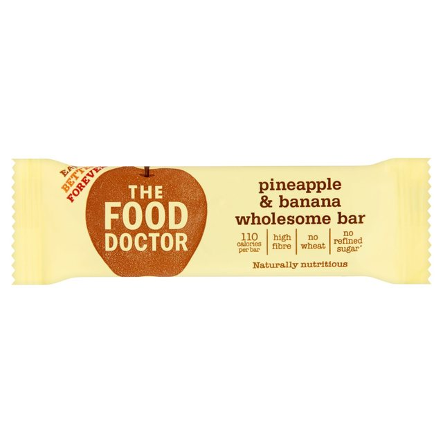The Food Doctor Pineapple & Banana Wholesome Bar