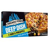 Chicago Town 2 Deep Dish Ham & Pineapple Pizzas