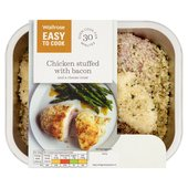 Easy to Cook Chicken stuffed with Bacon & a Cheese Crust Waitrose