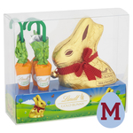 Lindt Gold Bunny & 3 Chocolate Carrots