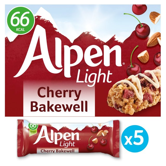 Alpen light bars cherry bakewell 5 x 19g from ocado alpen light bars cherry bakewell aloadofball Image collections