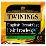 Twinings Organic Fairtrade Breakfast Tea Bags