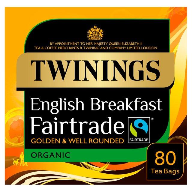 Twinings Organic Fairtrade Breakfast Tea Bags