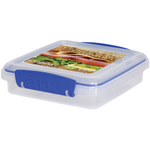 Sistema Plastic Sandwich Box 450ml, Blue