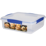 Sistema Klip It Rectangular Plastic Bakery Box, Blue