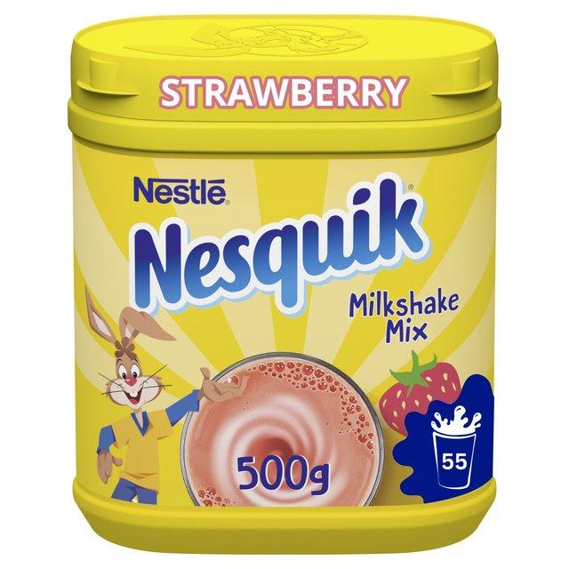 Nesquik strawberry milkshake