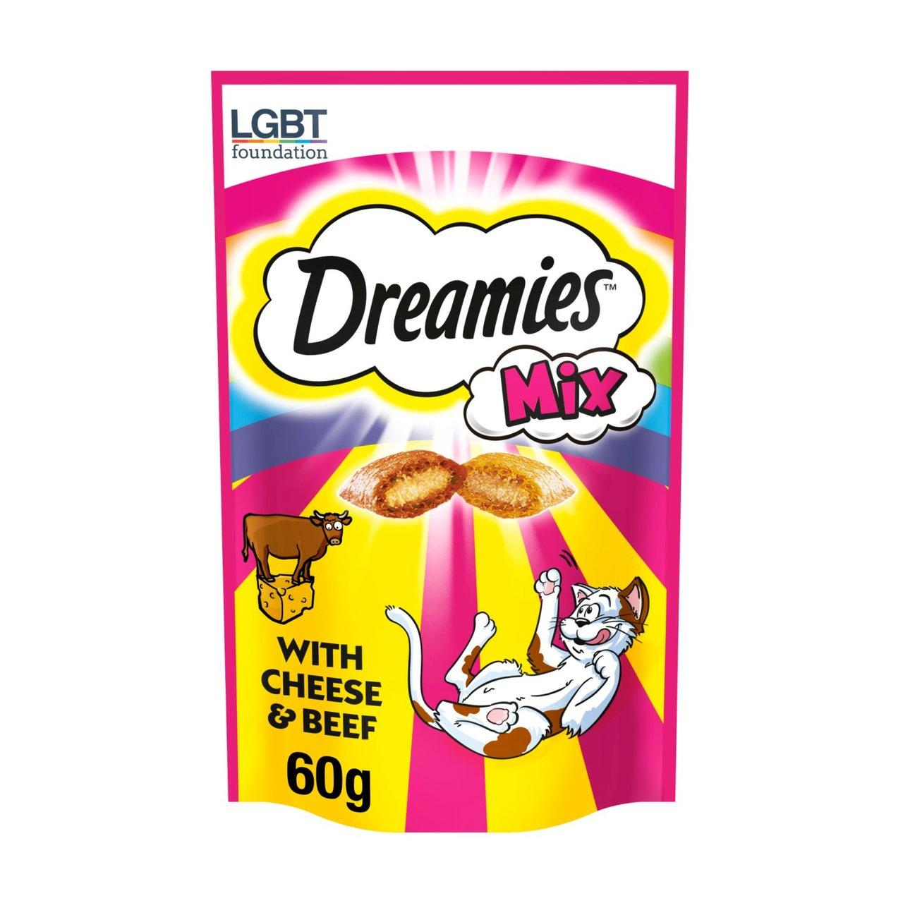 An image of Dreamies Mix Cat Treats Beef & Cheese