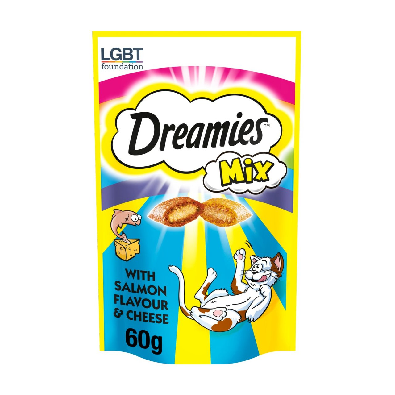 An image of Dreamies Mix Cat Treats Salmon & Cheese