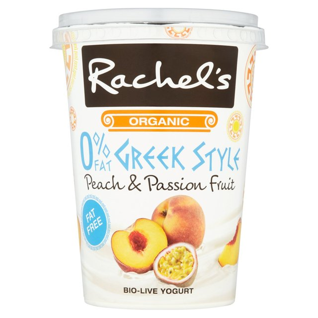Rachel's Organic Fat Free Peach & Passionfruit Greek Style Yogurt