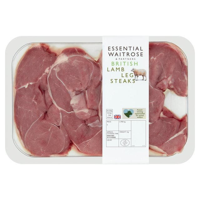 Essential Waitrose 4 New Zealand Lamb Leg Steaks