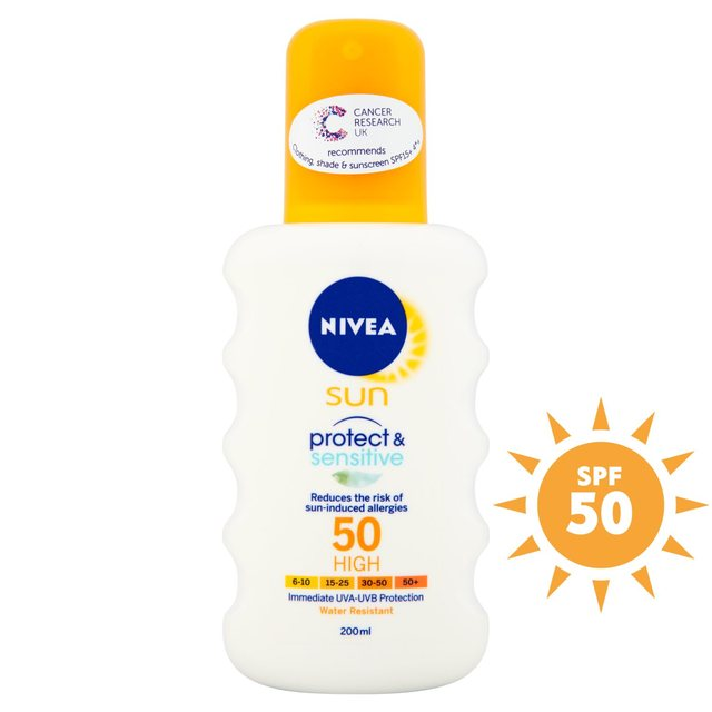 Nivea Sun Pure & Sensitive Spray SPF 50