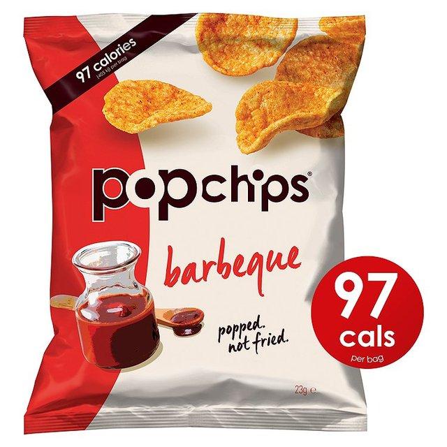 Popped potato chips