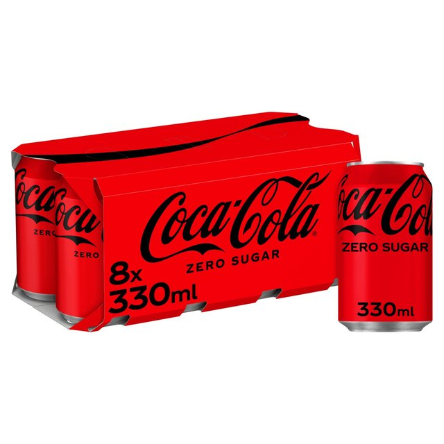 coca cola zero sugar 8 x 330ml from ocado. Black Bedroom Furniture Sets. Home Design Ideas