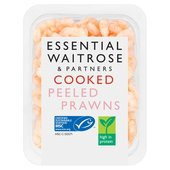 Essential Waitrose Cooked & Peeled Prawns