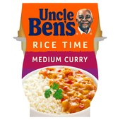 Uncle Ben's Rice Time Medium Curry Microwave Ready Meal