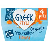 Yeo Valley 0% Fat Organic Greek Style with Honey Yogurt