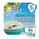 Muller Light Greek Style Coconut & Vanilla Yoghurt