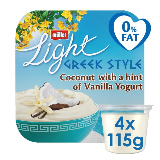 Muller Light Greek Style Coconut with a Hint of Vanilla Yogurt