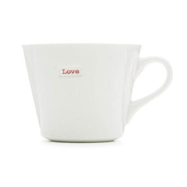 Keith Brymer Jones Word Range 'Love' Bucket Mug 380ml, White