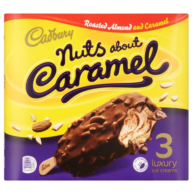 Cadbury Nuts About Caramel Ice Cream