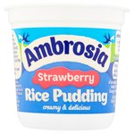 Ambrosia Strawberry Rice Pudding
