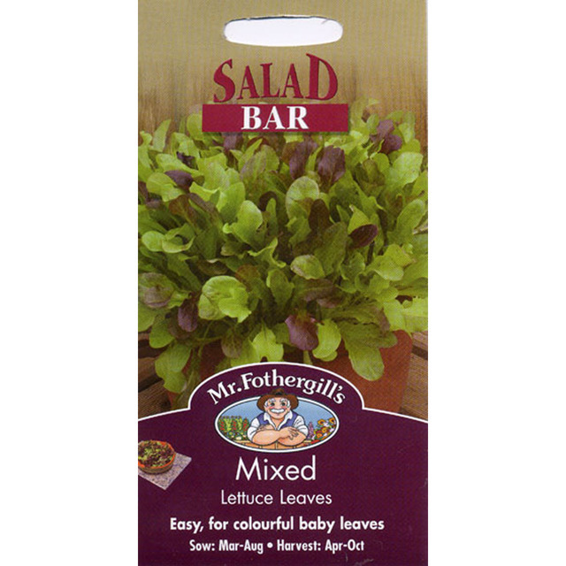 Mr Fothergill's Seeds - Salad Bar Mixed Lettuce Leaves