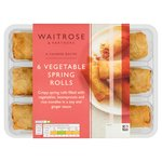 Waitrose 6 Vegetable Spring Rolls