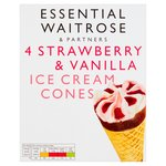 Essential Waitrose Strawberry Cone