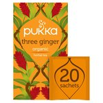 Pukka Organic Three Ginger Tea Bags