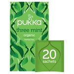 Pukka Organic Three Mint Tea Bags