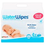 WaterWipes Sensitive Baby Wipes 4 x 60 per pack